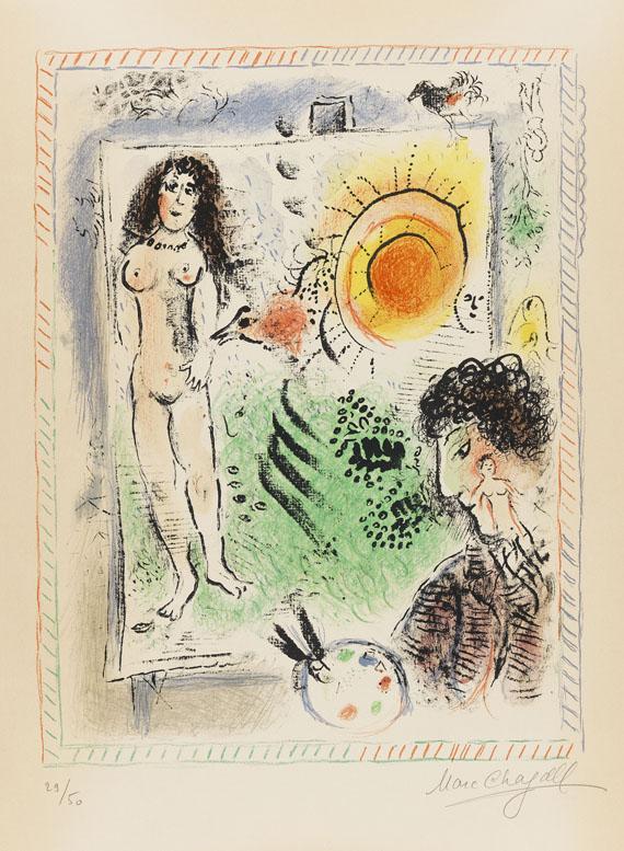 Marc Chagall - Le soleil de l'atelier
