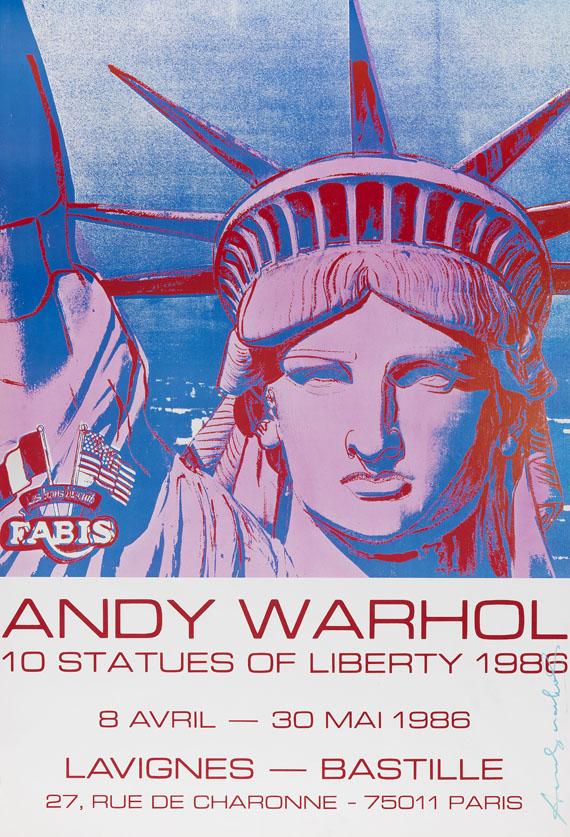 andy warhol plakat 10 statues of liberty - Andy Warhol Lebenslauf