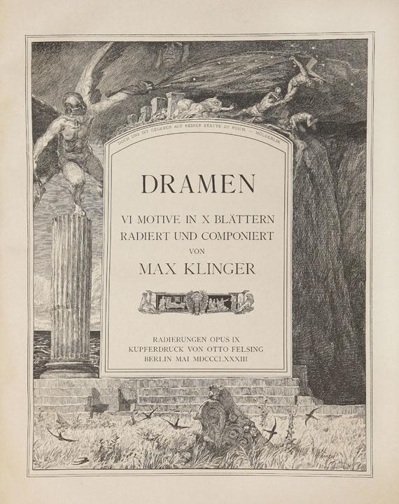 Max Klinger - Dramen. 1883. 2. Ausgabe.