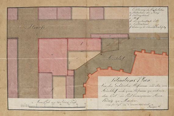 Pommern - Privilegium der Apotheke zu Massow. 1766-1844.