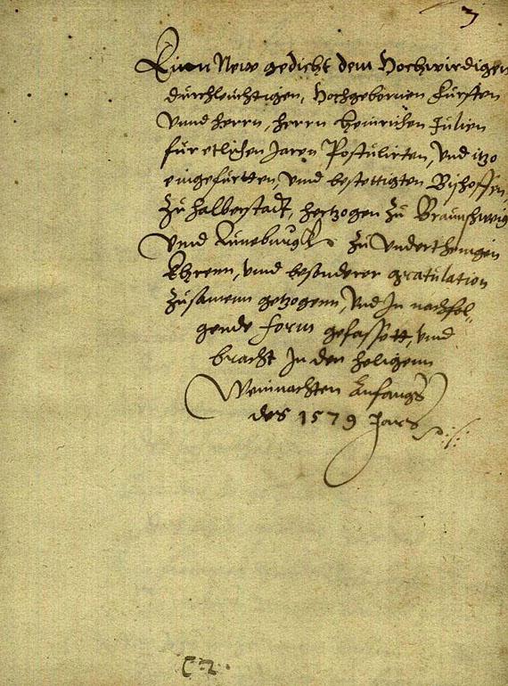 Gedichtmanuskript 1579 - Manuskript, 1579