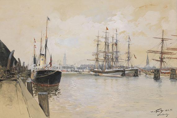 Hans Bohrdt - Hamburger Hafen