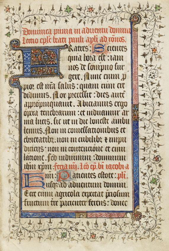 Epistolarium - Liber Epistolarum, manuscript.  14. Jh.