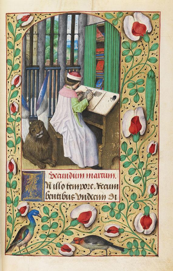 Manuskript - Stundenbuch auf Pergament. Flandern um 1500. - Weitere Abbildung