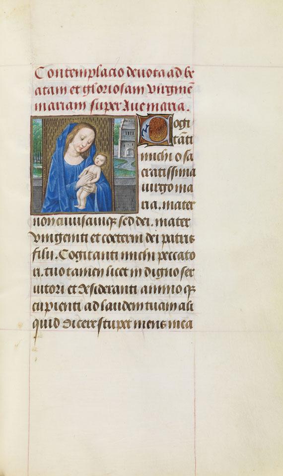 Manuskript - Stundenbuch auf Pergament. Flandern um 1500. -