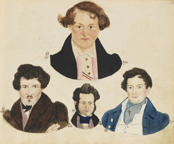 Album amicorum - Schmiedeberg, Blätter der Erinnerung. 1835-39.