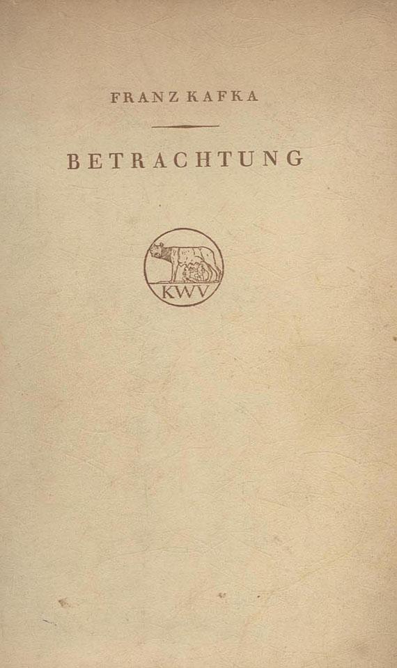 Franz Kafka - Betrachtung. (2. Ausg. 1916)