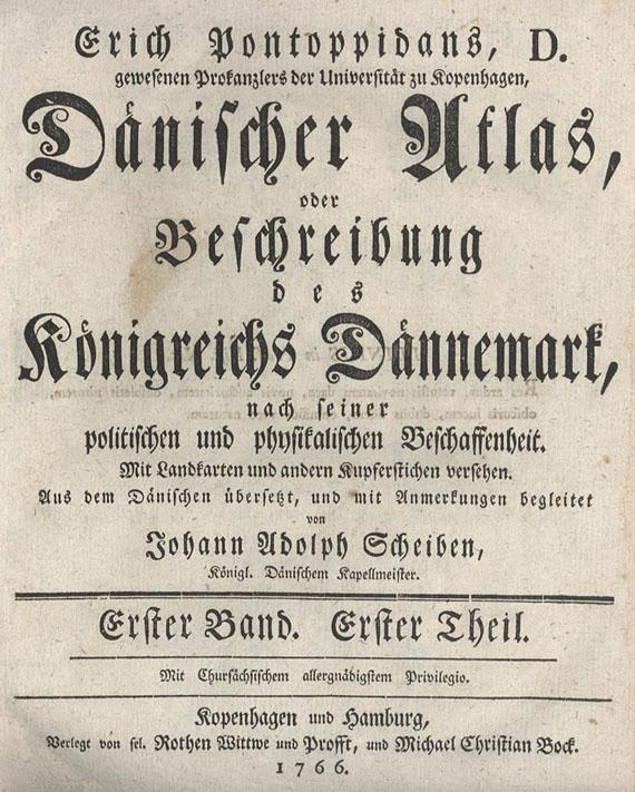 Erich Pontoppidan - Dänischer Atlas. 1765.