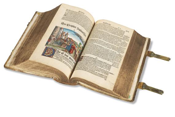 Martin Luther - Biblia germanica, altkoloriert. 1547.