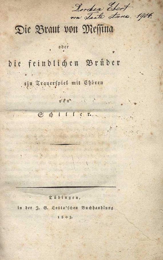 Friedrich von Schiller - Die Braut von Messina. 1803.