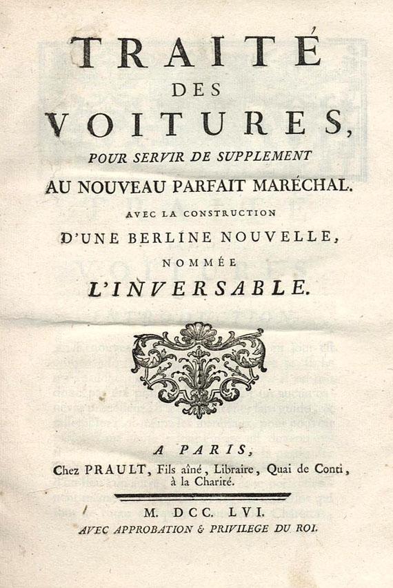Verkehr - Garsault, François Alexandre de, Traité des voitures, 1756.