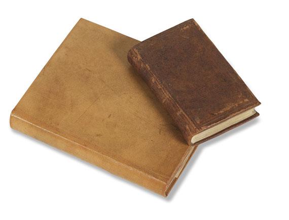 - Amerikanischer Unabhängigkeitskrieg. 2 Manuskripte eines dt. Soldaten. 1777-93. - Einband
