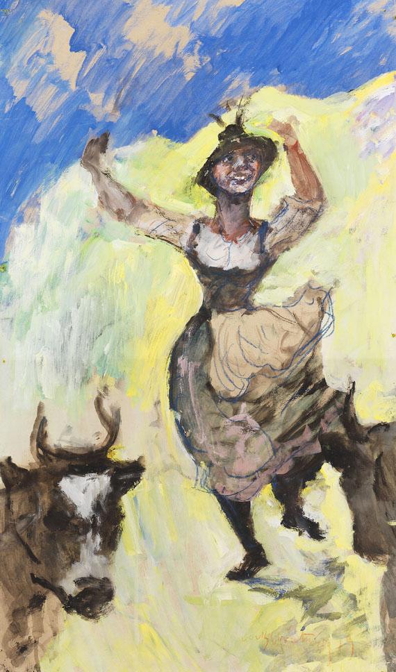 Lovis Corinth - Bayerisches Madl tanzend