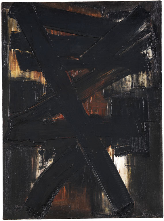 Soulages - Peinture 81 x 60 cm, 2 mai 1957