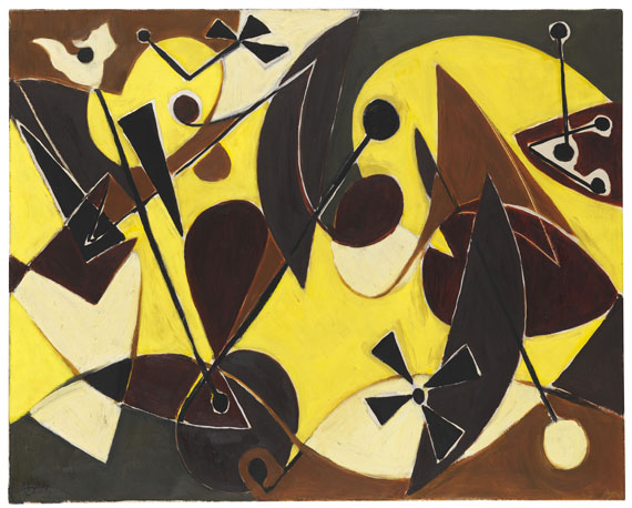 Ernst Wilhelm Nay - Imagination in Gelb