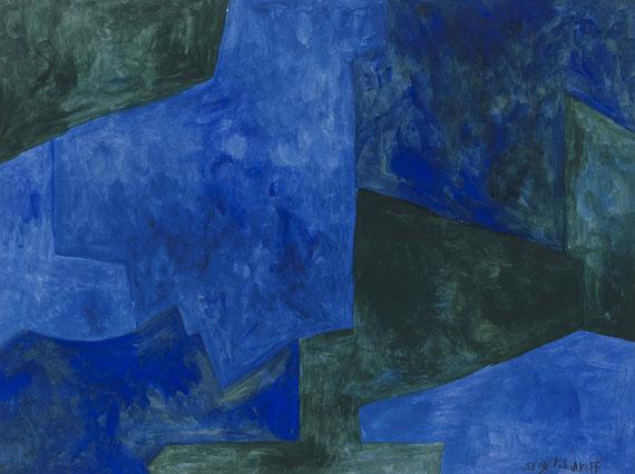 Serge Poliakoff - Composition, Bleues et verts