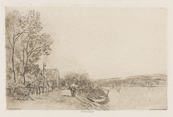 Alfred Sisley - Bords du Loing, la charrette