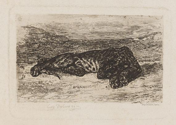 Eugène Delacroix - Tigre couché dans le désert
