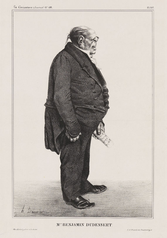 Honoré Daumier - Benjamin Delessert