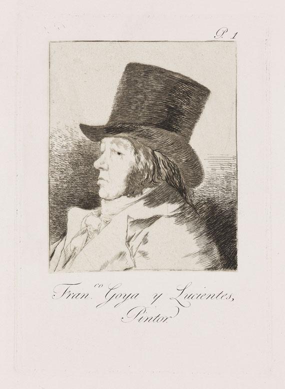 Francisco de Goya - Selbstporträt: Fran.co Goya y Lucientes, Pintor