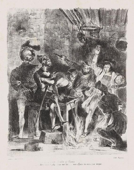 Eugène Delacroix - Méphistophélès dans la taverne des étudiants
