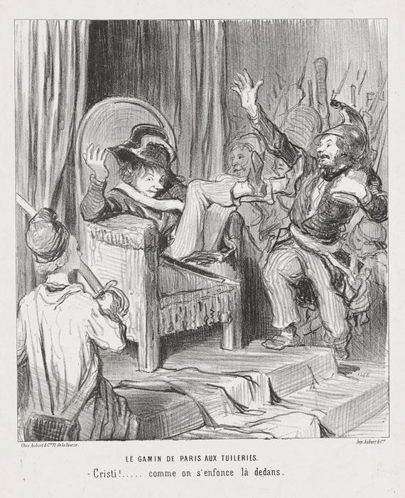 Honoré Daumier - Le Gamin de Paris aux Tuileries