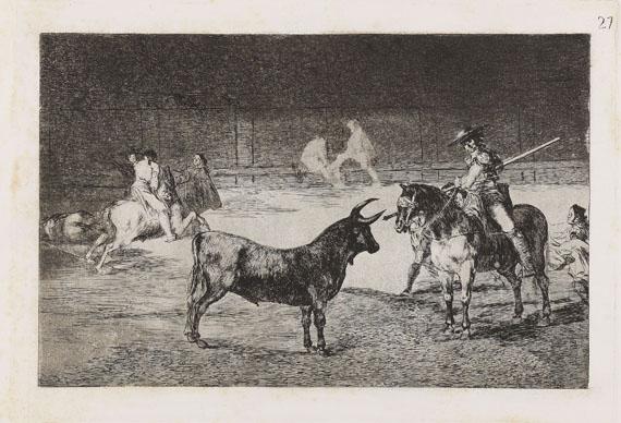 Francisco de Goya - El célebre picador Fernando del Toro, barilarguero, obligando á la fiera con su garrocha