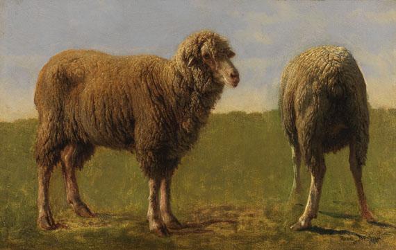 Rosa Bonheur - Tierstudie: Zwei Schafe