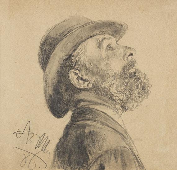 Adolph von Menzel - Porträt eines Mannes