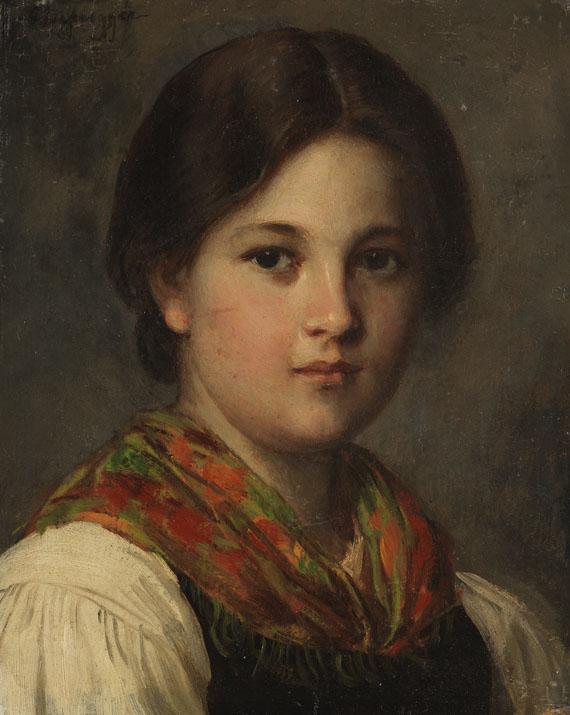 Franz von Defregger - Mädchenportrait