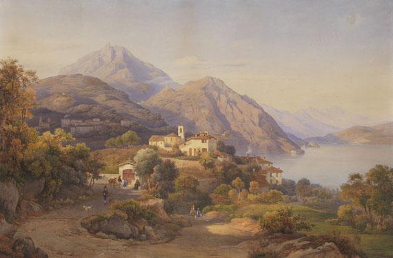 Salomon Corrodi - Abendstimmung am Lago Maggiore