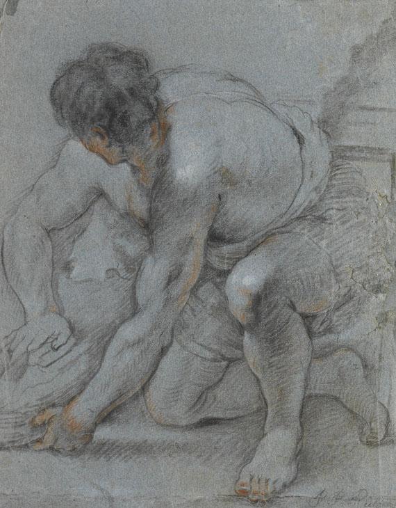 Peter Paul Rubens - Umkreis - Studie eines knieenden Mannes