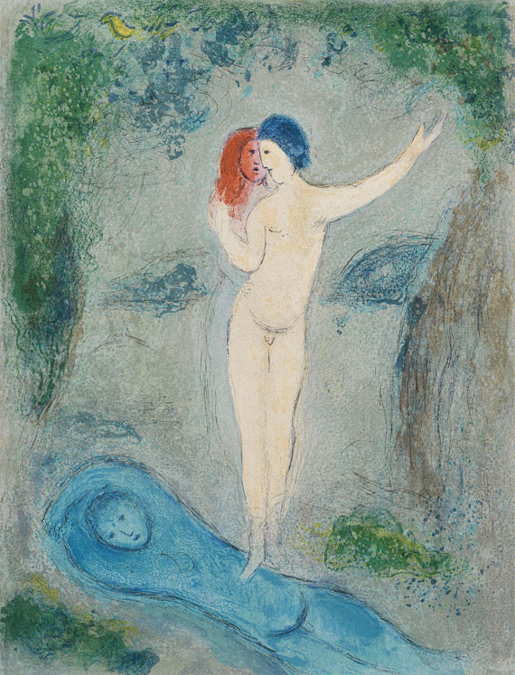 Marc Chagall - Der Kuss Chloes