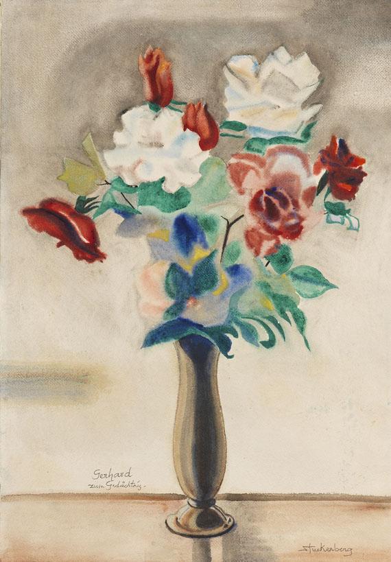 Fritz Stuckenberg - Blumenstrauß in Vase