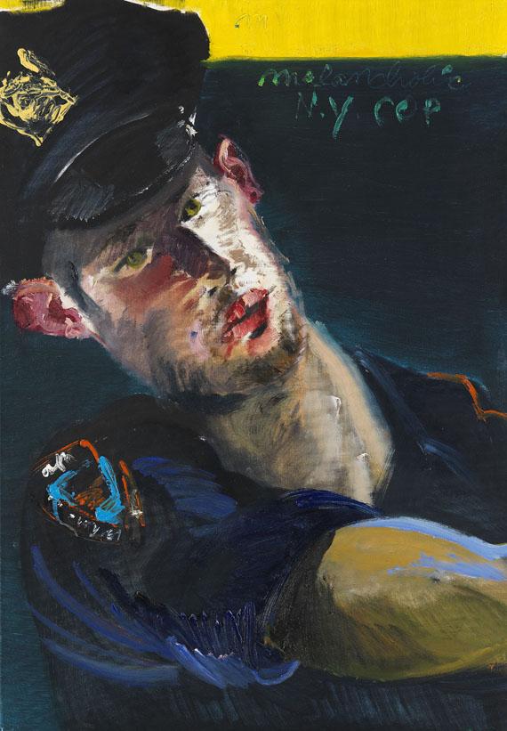 Rainer Fetting - Melancholic NY Cop Brian