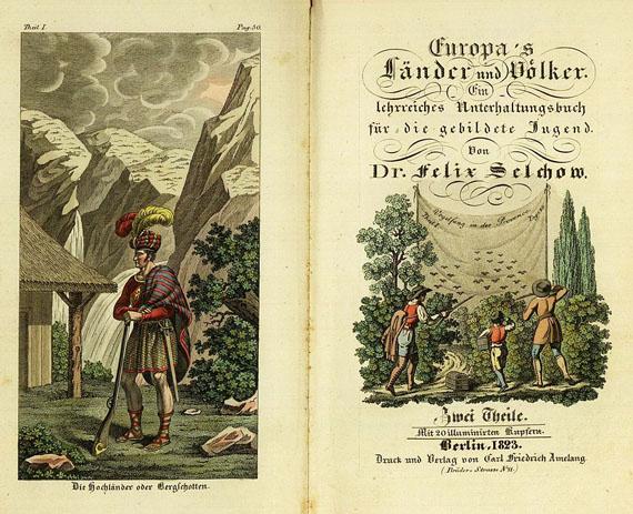 Felix Selchow - Europas Länder und Völker, 1822.