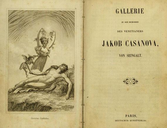 Giacomo Casanova - Gallerie zu den Memoiren. Dabei: Berthold, Album. Zus. 2 Bde.
