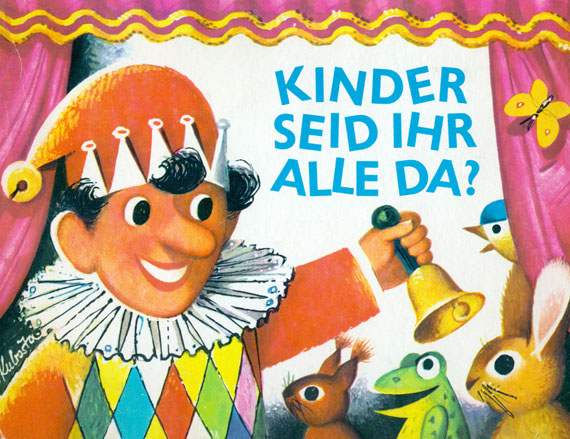 Vojtech Kubasta - 10 Pop-Up Kinderbücher. 1960-1970.