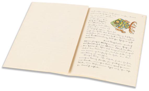 Hermann Hesse - Piktor's Verwandlungen (Manuskript mit Aquarellen). 1930. - Weitere Abbildung