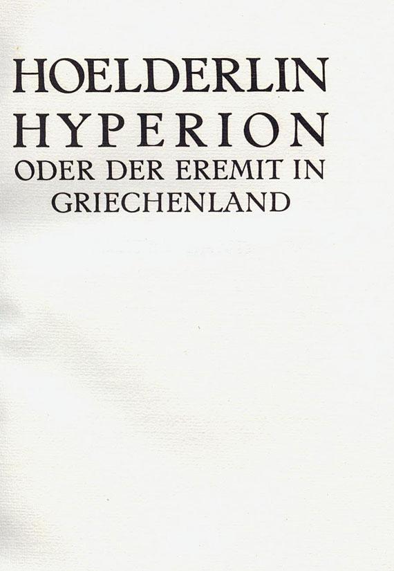 Friedrich Hölderlin - Hyperion. 1911