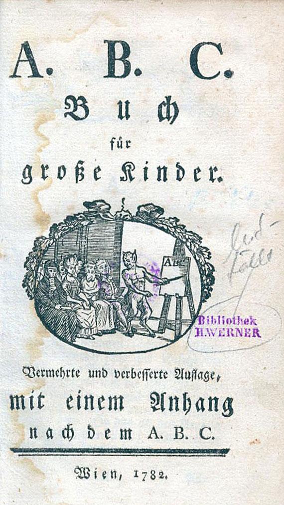 Joseph Richter - A. B. C. Buch für große Kinder. 1782