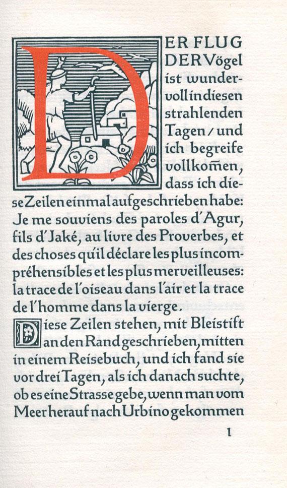 Bremer Presse - Hofmannsthal, H. von, Die Wege und die Begegnungen. 1913