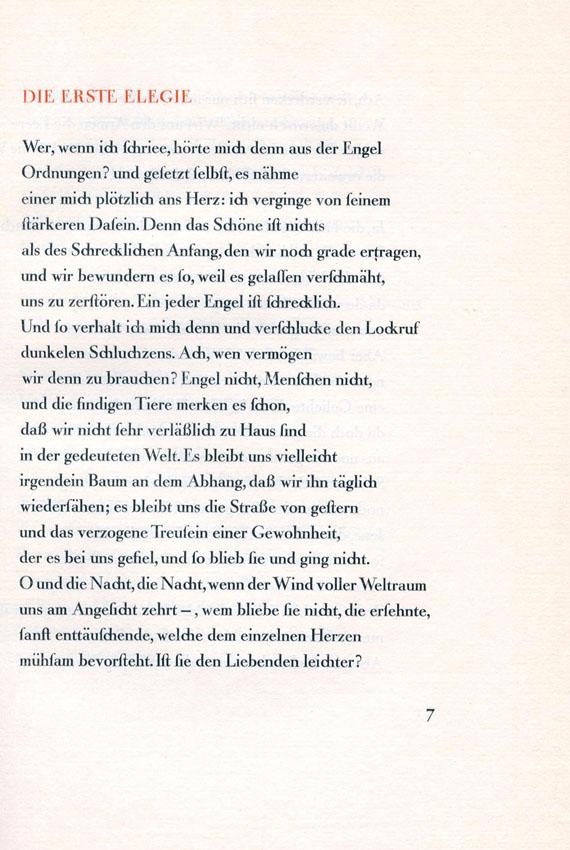 Rainer Maria Rilke - Duineser Elegien. 1923