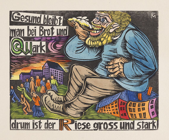 Conrad Felixmüller - Ein geschütteltes, geknütteltes Alphabet. 1925