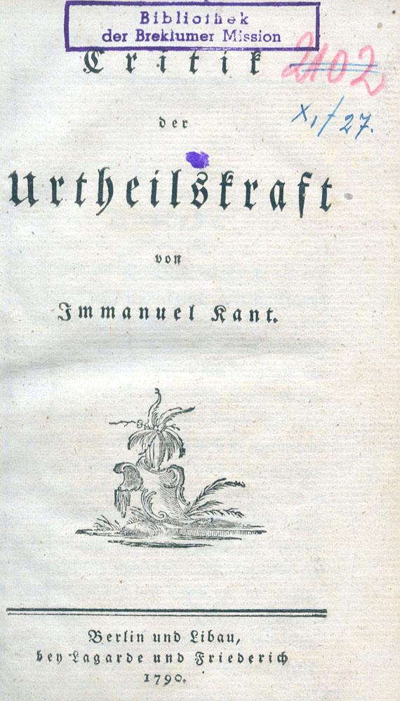 Immanuel Kant - Critik der Urteilskraft. 1790. Über eine Entdeckung. 1790.
