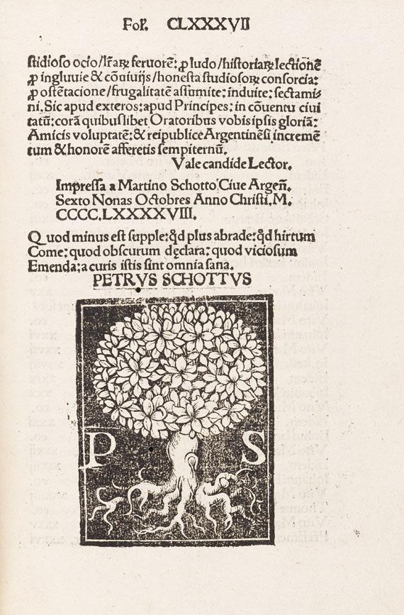 Petrus Schott - Lucubraciunculae ornatissimae. 1498. - Weitere Abbildung