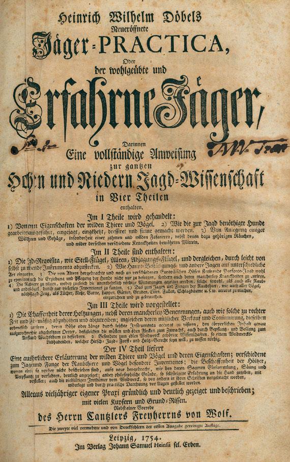 Jagd - H. W. Döbel, Jäger-Practica. 1754.