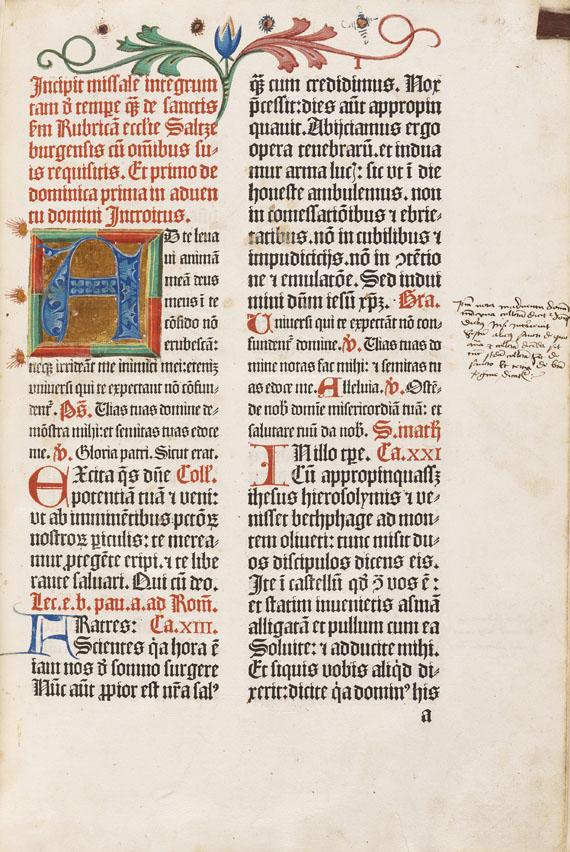 Missale Salisburgense - Missale Salisburgense. 1492.