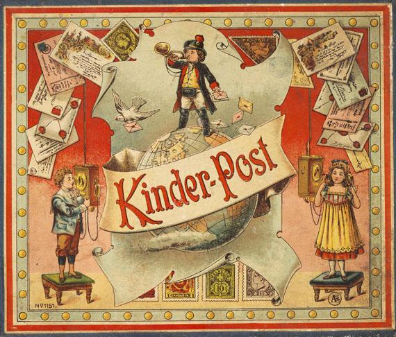 Kinder-Post - Kinder- Post. Um 1890.