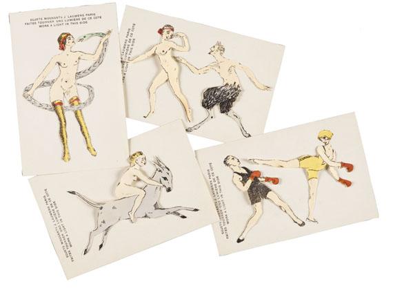 Spiele - Sujets mouvants. 6 Karten. Um 1905/10.